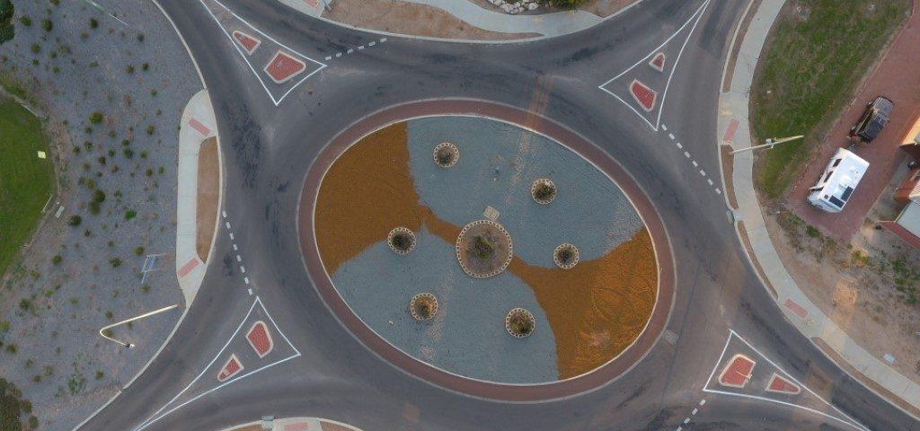 A 5 leg roundabout we designed in Dongara WA
