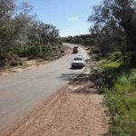 Depot Hill Road before upgrade works has been undertaken