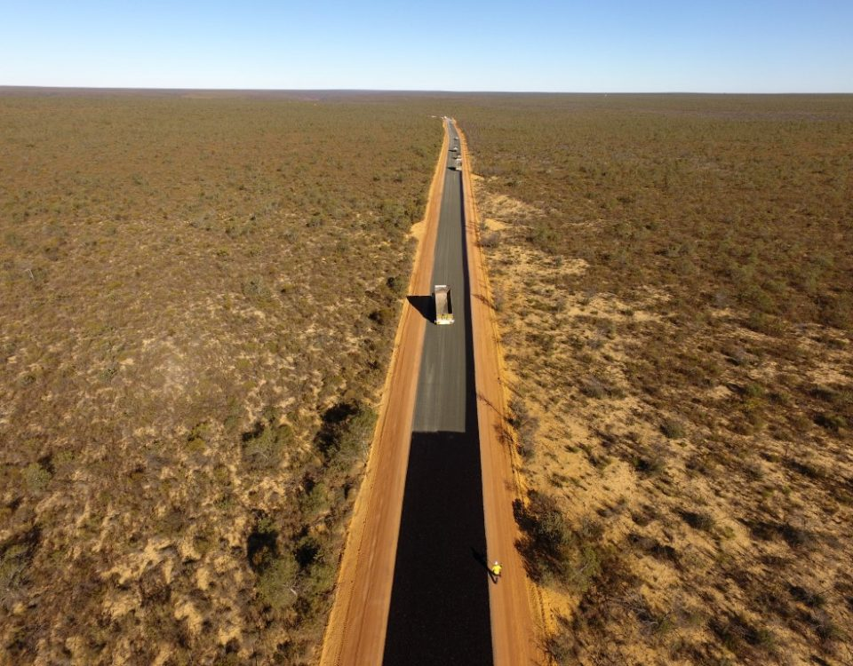 Footage from Drone of Kalbarri Road Upgrades